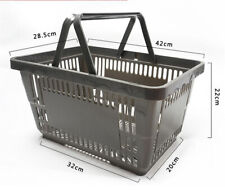 Gray Plastic Shopping Basket Pack of 10 Durable Shopping Baskets Supermarket