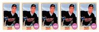(5) 1993 Sports Cards #66 Chipper Jones Baseball Card Lot Atlanta Braves