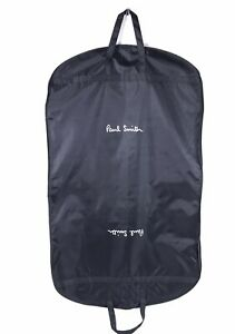 """PAUL SMITH Garment Bag for Suit Protector Black with White Logo 23""""w x 40""""h"""