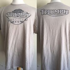 "TRIUMPH MOTORCYCLES Worlds Fastest Lucky Brand ""USER DISTRESSED"" T-Shirt Size XL"