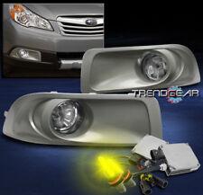2010-2012 SUBARU OUTBACK BUMPER DRIVING FOG LIGHT CHROME W/3000K HID KIT+HARNESS