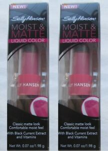 2 SALLY HANSEN MATTE & MOIST LIPCOLOR BUYER'S CHOICE FREE SHIPPING USA RARE HTF