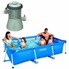 INTEX 28271 Swimming-Pool 260x160x65cm de Metal-Frame Piscina + BOMBA ! NUEVO !