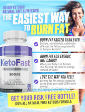 KETOFAST 60 CAPS FAT BURNER , KETOSIS SUPPORT FAST WEIGHT LOSS