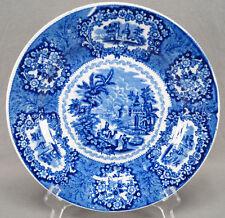 Petrus Regout & Co Holland Oriental Pattern Blue Transferware Plate C. 1935 - 60