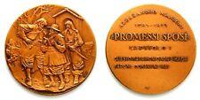 Medaglia Alessandro Manzoni – Promessi Sposi Capitolo I Bronzo cm 5,5 Peso g53,3