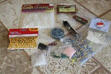 14 pkg lot glass seed beads pearls crafts jewelry making opaque