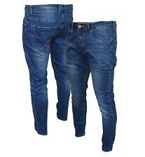 Jeans uomo pantaloni slim fit elasticizzati Skinny cotone denim JG1916