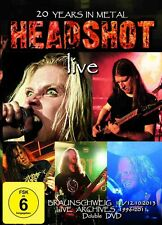 """Headshot """"Live - 20 Years In Metal"""" DVD [FEMALE FRONTED TECHNICAL DEATH THRASH]"""