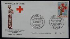 58L** Enveloppe 1er jour / FDC République du NIGER (CROIX ROUGE 1969)