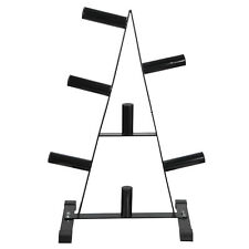 Powder-Coated Barbell Holder Commercial grade Weight Plate Rack Tree Stand Home