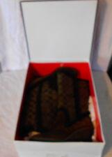 Coach Boots Size 8.5 M Jordana Style Dark Brown Side Zipper Worn Once All Packag