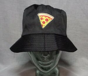 pizza slice bucket hat patch fishing hike sun festival outdoor hip hop gift