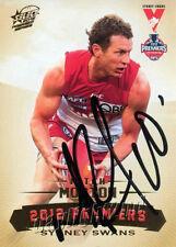 ✺Signed✺ 2012 SYDNEY SWANS AFL Premiers Card MITCH MORTON
