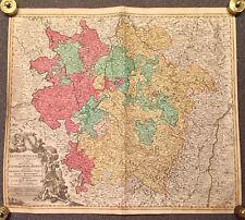Original Antique carte, Lorraine et Barri, 1680-1720