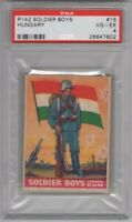 1936 R142 Goudey Soldier Boys #15 Hungary Graded PSA 4