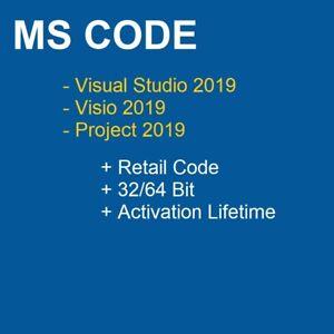 -CODE- OF Studio Visual Enterprise Visio Project Professional Ver 2019 USB, DVD
