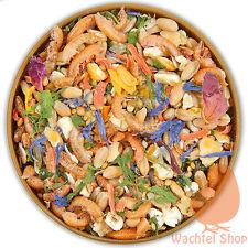 10 KILO Wachtelfutter - mit Kräutern, Grit, Gemüse, Bierhefe, Blüten, Sämereien