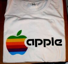 Apple Rainbow Logo Retro T-shirt - L