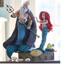 Disney Designer Fairytale ARIEL & KING TRITON Little Mermaid Doll Set LE6000 NEW