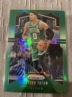 Jayson Tatum 2019-20 Panini Prizm Green Jersey Refractor # 39 SP Boston Celtics