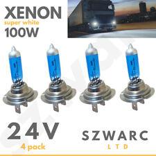 H7 24v 100w Headlight Bulbs Dipped Main Beam 499 Lorry Truck Hgv Xenon White