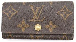 Authentic LOUIS VUITTON Monogram Multicles 4 Key Ring Holder case France M62631