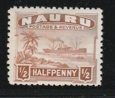 Nauru 1937 1/2d Chestnut Sg26B Mh P11