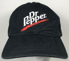 Dr Pepper Soda Pop Logo Coke Hat Cap Drink Strapback Black