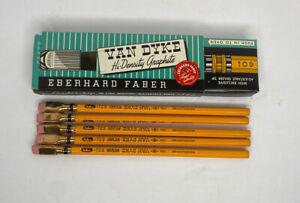 Vintage Eberhard Faber Van Dyke Hi-Density Pencils 5 Unsharpened in Box 601 No.2