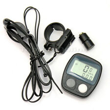 LCD Fahrradcomputer Fahrradtacho Tachometer Fahrrad Tacho Odometer Schwarz Neu