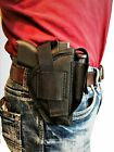 Side holster With Extra Magazine Pouch For Ruger LC9 & LC9s
