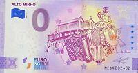 BILLET 0  EURO ALTO MINHO ANNIVERSARY  PORTUGAL 2021 NUMERO DIVERS