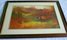 More details for trio of pheasant mounted & framed print from painting by archibald thorburn 1909