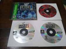 PS1 & PS2 Game Lot - WWE Smack Down 1&2,  , WWF Attitude get it. Lot of 4