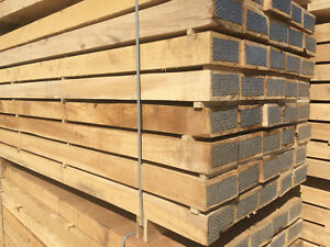 """NEW  HARDWOOD, L.Oak Railway Sleepers Grade """"A"""" delivery available!"""