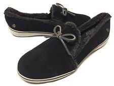 Ortholite Travel Buddy Women's SlipOn Comfort Flats Winter Shoes size 6 Black