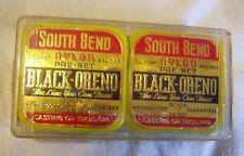 2 Vtg 50 yd 15 lb nylon fishing line South Bend Black Oreno in plastic case