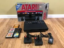Atari 2600 Console W/ 2 Controllers Power Cord 5 Games In Original Box.