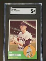 1963 Topps #365 Jim Bunning SGC 5 Newly Graded