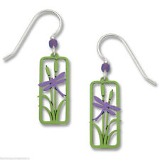 Dragonfly Earrings - 925 Sterling Silver Earwire - Dragonfly Jewelry Meadow NEW