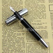 Baoer 051 Smooth Stainless Black Medium Nib Study Business Fountain Pen