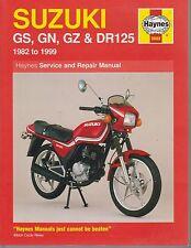 SUZUKI GS125 GS125ES GN125 GZ125 & DR125S ( 1982 - 1999 ) OWNERS WORKSHOP MANUAL