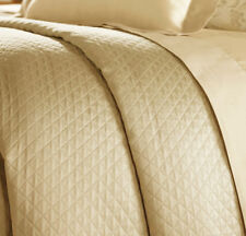 Sferra Bari Bed Skirt Twin Butter Yellow Egypt Cotton Diamond Pique 3 Panel New