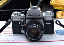 Ricoh TLS 401 SLR Camera 35 mm with Auto Rikenon 1:1.7 f=50mm Lens Vintage Case