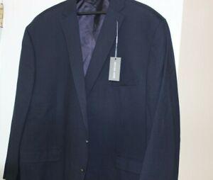 Michael Kors Men's Navy Modern Fit Wool Blend Two Button Blazer $350 Size 60L