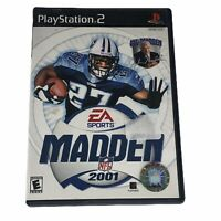 Madden NFL 2001 Sony PlayStation 2 PS2 Complete w/Manual CIB Tested Works