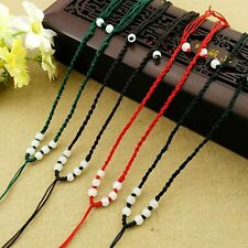 """5 Silk Necklace Cords Assorted Lot Jewelry Making Supplies 17.5/"""" Adjustable"""