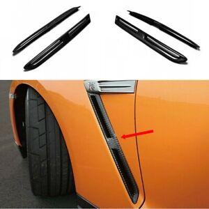 For Nissan GTR R35 Carbon Fiber OE Front Fender Air Vent Cover Mouldings Trim