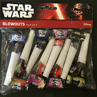 8x Disney Star Wars Blow Out Party Flavors Blower Boys Party Supply